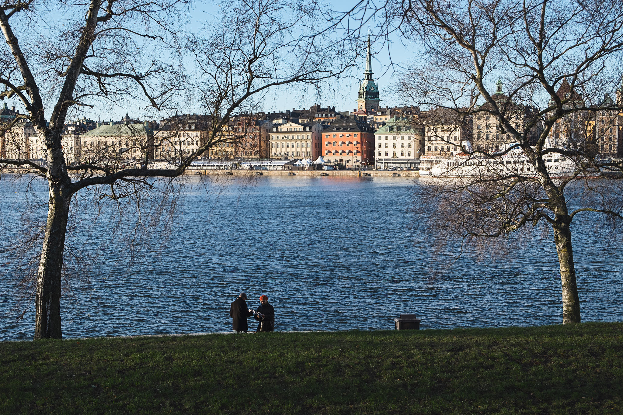 Cold morning view of Gamla Stan, Stockholm's old town.